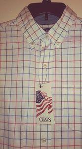 Chaps checkered botton shirt